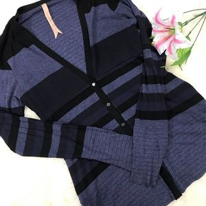 Bailey 44 Sweaters - {Bailey 44} Blue Navy Striped Cardigan